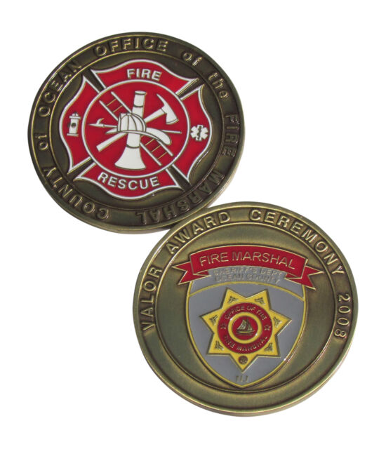 Ocean County Fire Marshal Challenge Coin