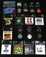 THE BEATLES & JOHN LENNON OFFICIAL MERCHANDISE KEYRINGS & FRIDGE MAGNETS - NEW