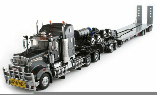 1/50 METAL KENWORTH T 908  SEMI-REMORQUE DRAKE avec dolly dolly dolly 2X84X8 roues | La Construction Rationnelle