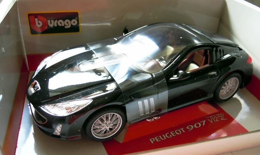 BBURAGO 18-11008  PEUGEOT 907 v12, diecast in 1 18, Nuovo & Scatola Originale, Raro