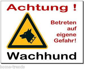 Wachhund-hund-aluminium-schild-0,5-3 Mm Dick-türschild-warnschild-hundeschild Haustierbedarf