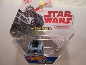 Hot Wheels Star Wars Battle Rollers Darth Vader TIE Advanced Die-Cast 2017
