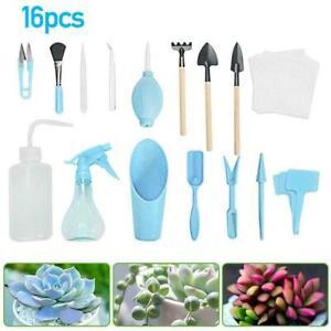 16pcs Mini Gardening Tool Set Succulent Plants Tools Garden Care New Plant F4T6
