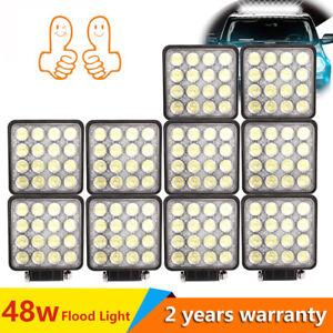 10X-48W-LED-Faros-de-trabajo-de-la-luz-de-Work-Light-Flood-camion-Lampara-coche