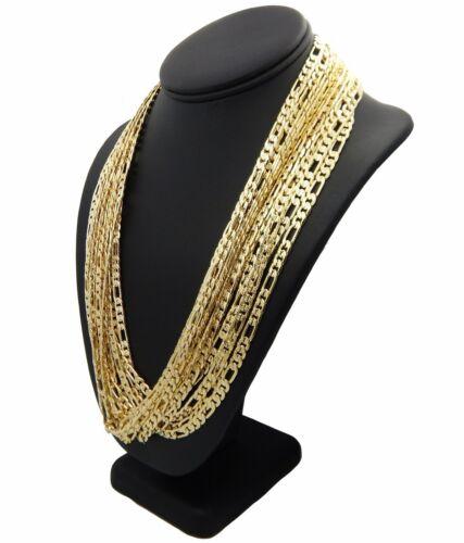 "Men/'s 6mm 12 Piece Italian Figaro link Chain Diamond Cut Necklace 8/"" 20/"" 24/"""