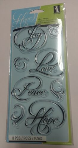 INKADINKADO CALLIGRAPHY EXPRESSIONS 8 PC Clear Stamp Set 60-30576 NEW