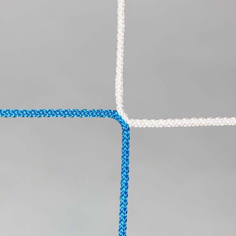 Fußballtornetz Tornetz Tornetz Tornetz Fußballnetz 7,5 x 2,5 m, 2,00   2,00 m, 4 mm, Blau Weiß 10111b