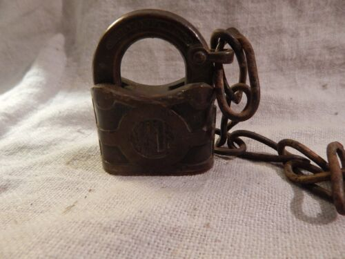 Vintage Yale Padlock with Chain 2.5""