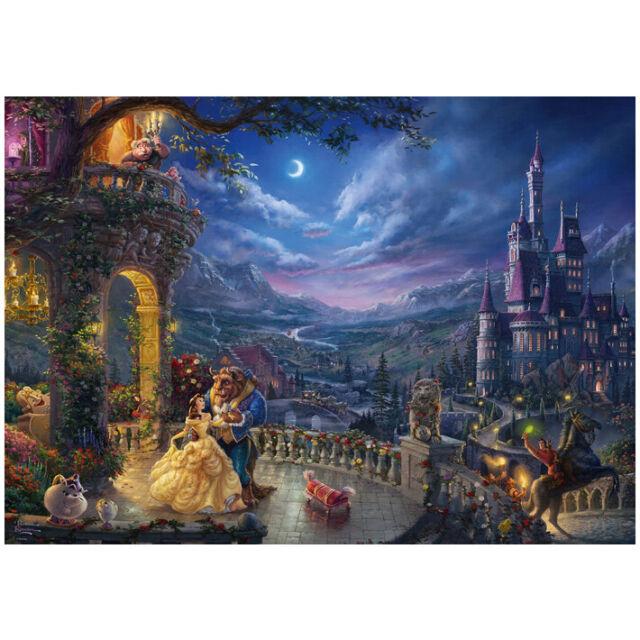 Puzzle Thomas Kinkade: Disney La Bella e la Bestia al chiaro di luna - 1000 pz -