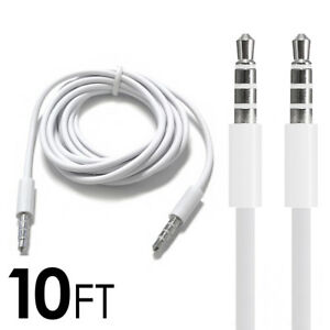 10FT-3-5mm-Auxiliary-Aux-Male-to-Male-Stereo-Audio-Cable-Cord-iPod-Car-MP3-PC