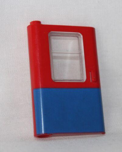 9V Lego Eisenbahn 1x Tür links 4181 blau rot mit Glas 7818 7715 Zug Lok,12V