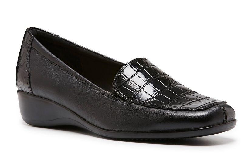 Mujer señoras Hush Puppies Prado ADC Casual Vestido   Cuero Zapatos Cuñas De Baja Altura