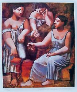 Pablo Picasso THE BATHERS Estate Signed /& Numbered Small Giclee Art