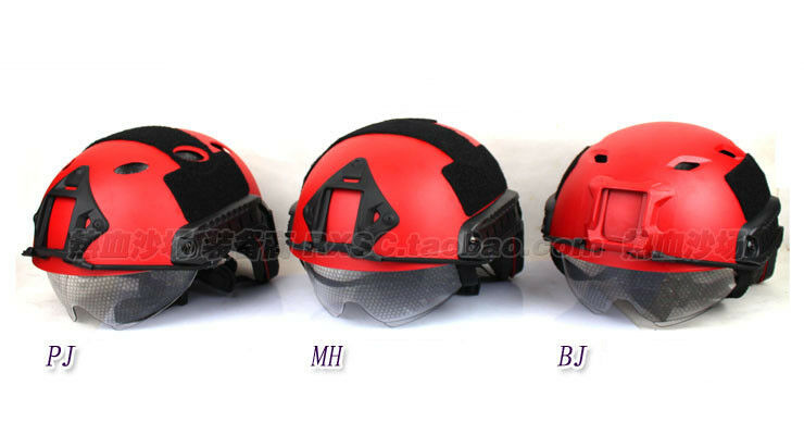 Tactical Red Helmet FAST Helmet MH Rescue Disaster Relief Field CS Outdoor