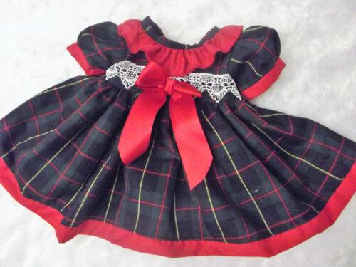 Dream 0-3 anni per neonate SPAGNOLO SMERALDO abito tartan rosso o Bambole Reborn