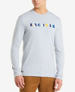 Lacoste Mens Long Sleeve Letter Block Graphic Sweatshirt