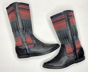 Vittorio-Ricci-Studio-Leather-Boots-Size-8-Southwest-Style