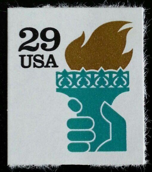 1991 29c Liberty & Torch, ATM self-adhesive Scott 2531a
