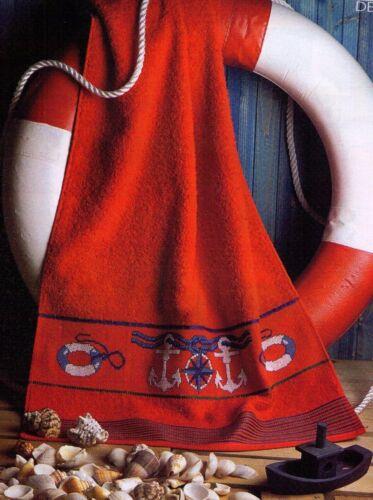 Punto de cruz rico Design invitados pañuelo de mano con aidafeld a Rosas rojo rally rayas