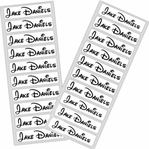 Disney-Personalised-Iron-on-School-Uniform-Labels-Name-Tag-Care-Home-Waterproof