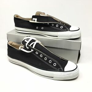 800148e78d1d Men s NEW 1980s Converse All Star Shoes Sneakers Size 15 Black Made ...