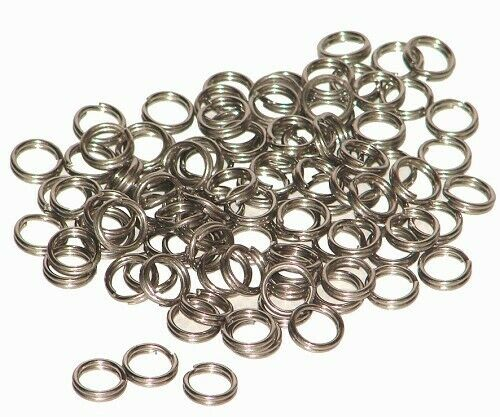size #3!! Free shipping also !!! Lot of 100 stainless steel split rings