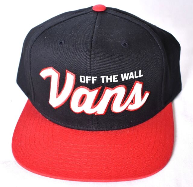 424cf43349a VANS off The Wall Wilmington Mens Black Red 100 Cotton Snapback Hat OSFA