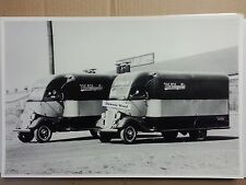 """12 By 18"""" Black & White Picture 1934 FORD SPECIAL BODIED CAB OVER TRUCKS"""
