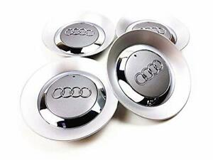 SET-4-150mm-Gray-Wheel-Center-Hub-Cap-8E0601165-for-Audi-A4-B6-B7-16INCH-5-SPOKE
