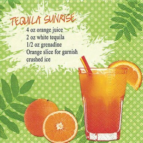 "Cocktails/"" Haus-Bar 25x25//33x33 Drink Party 20 Servietten Auswahl /""Cocktail"