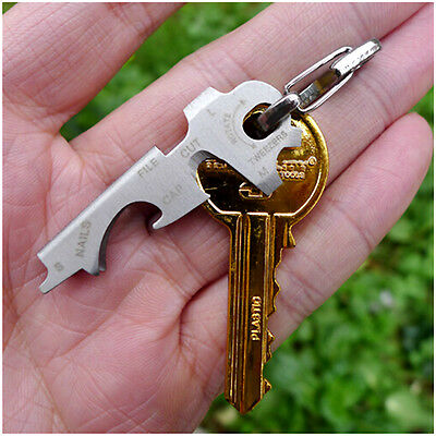 Smart-Key Tech 8 in 1 Xt-Werkzeug-Edelstahl Keychain Ring Utilikey