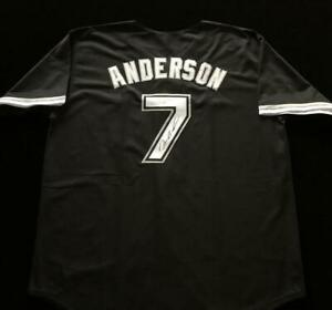 Tim-Anderson-Signed-Autograph-Black-Jersey-JSA-COA-White-Sox-Great