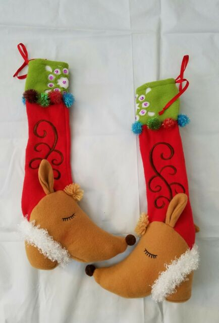 Elf Stockings And Slippers Christmas Chair Leg Covers Set