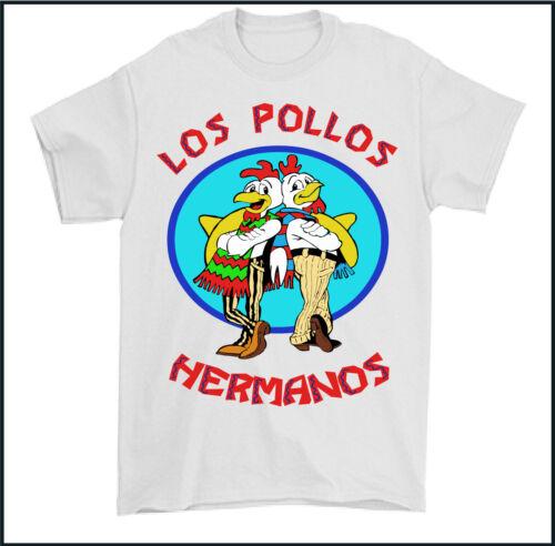 LOS POLLOS T-SHIRT Hermanos Breaking Bad Restaurant Heisenberg Mens Funny Tee