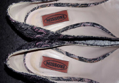 Missoni Shoebag 10 alto Pumps de Prada Tela multicolor 40 tacón cm de vqvprwA