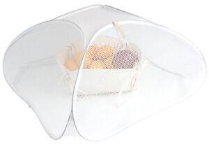 Copri vivande ripiegabile in nylon cm 45x24x45 colore BIANCO per cene all'aperto