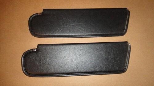 Mopar 72 73  E-Body Black Sunvisors Sun Visors 1972 1973 NEW