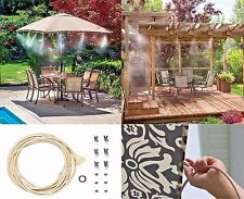 Outdoor Water Misting System Air Cooler Patio Mister Kit Pool Deck Garden 10ft