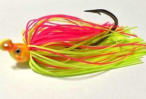 3-1-4-Oz-Sherbet-Poison-Tail-Swim-Jig-Mustad-Fluke-Sea-Bass-Striper