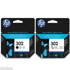 HP-302-Nero-E-Colore-Cartuccia-di-inchiostro-ORIGINALE-PER-OfficeJet-3830-4650-Envy-4520
