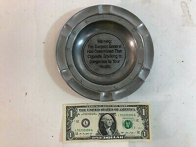 Vintage Duratale by Leonard Italy Surgeon General/'s Warning Pewter Ashtray