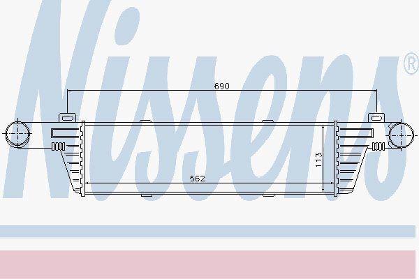 NISSENS 96860 Intercooler Cargador