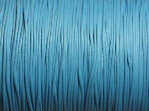 10m-Cordon-de-Coton-Cire-0-8mm-Bleu-4558550015945