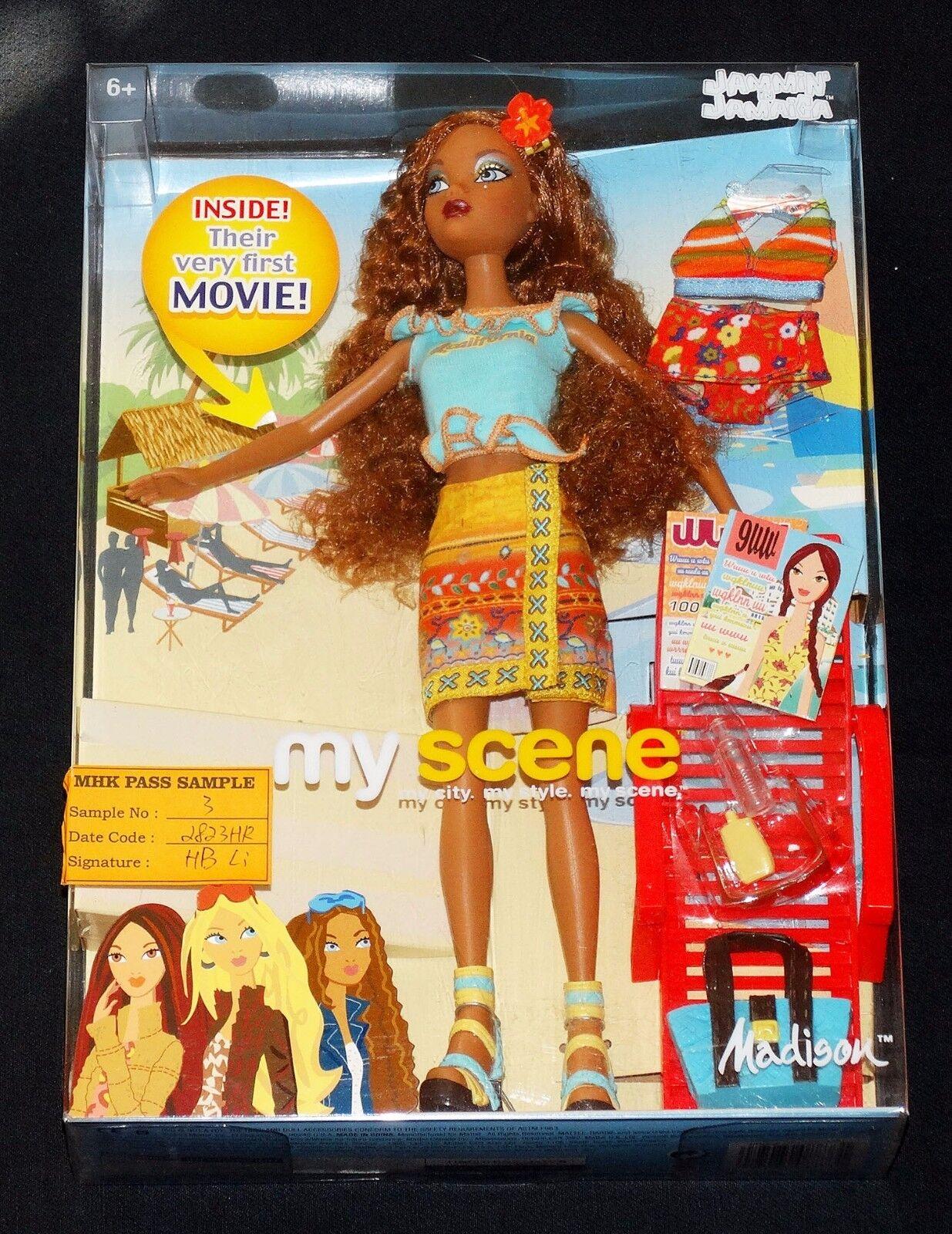 My Scene Madison Jammin en Jamaica muestra de producción  3 Muñeca Barbie Mattel 2003