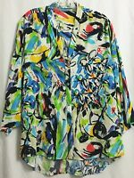 Jams World Women's Large Cruiser Sports Casual Blouse - Candy Pop Prints