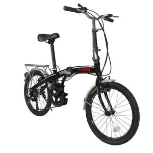 Xspec-20-034-7-Speed-City-Folding-Mini-Compact-Bike-Bicycle-Commuter-Black