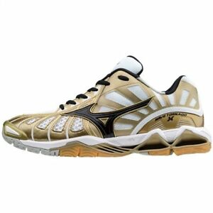 Mizuno WAVE TORNADO X Gold White Men Volleyball Shoes V1GA161250  b8afd998cab61