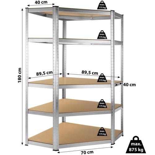 Esquinero 875kg taller estante para cargas pesadas estante apilable de almacenamiento estante para estante
