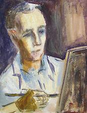 Jannes Buchweitz *1944 Emden / Tempera & Gouache / Selbstbildnis Selbstporträt