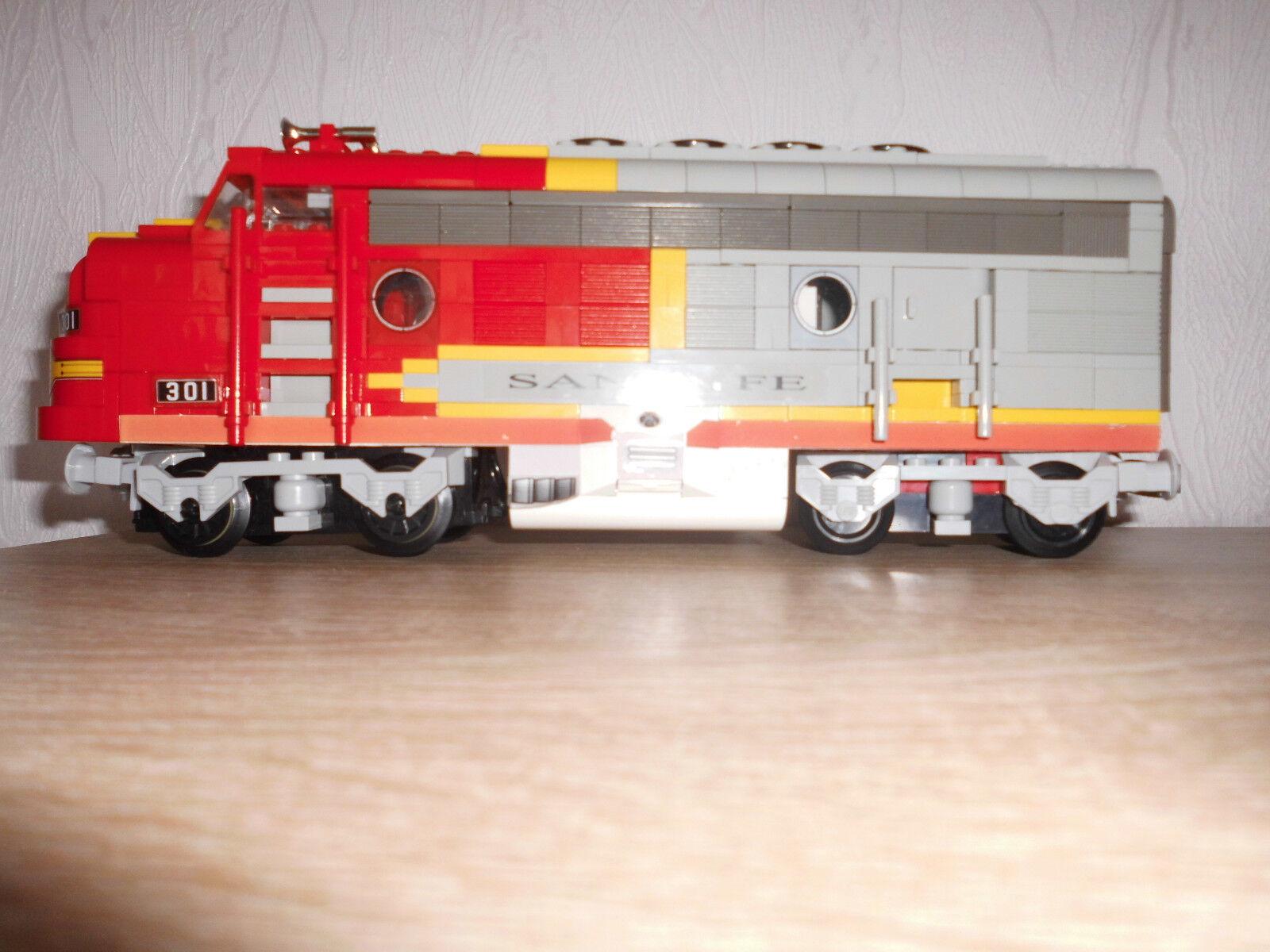 Lego  -Eisenbahn  10020 Santa Fe -Umbau auf RC ,mit Fernbedienung